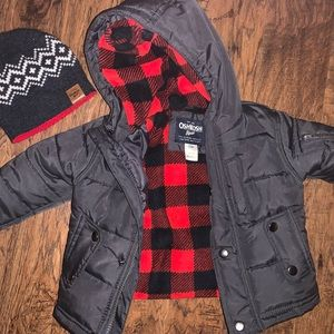 Boys Winter Coat and Beanie